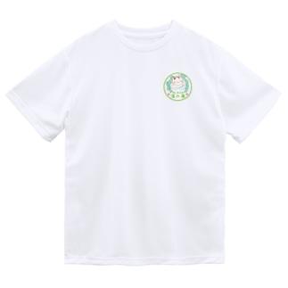 胸にロゴ入りミーちゃん Dry T-shirts