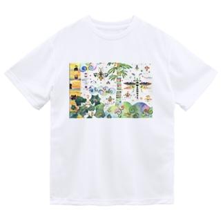 虹色のみくに Dry T-shirts