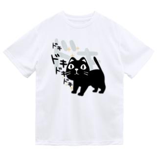 やみねこ ろっぽはドキドキ*L Dry T-shirts