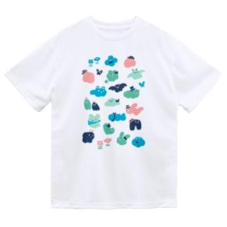 もくもくお化けたち Dry T-shirts