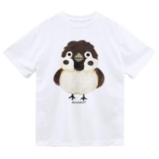 スズメがちゅん Dry T-shirts