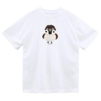 スズメがちゅん*M(イラスト) Dry T-shirts