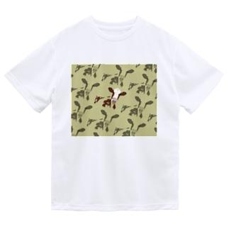たくさんの牛 Dry T-Shirt