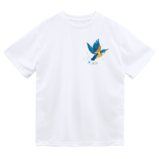 カワセミ飛沫 Dry T-Shirt
