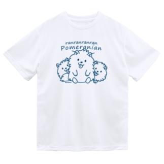 らんらんらんらんポメラニアンB*L Dry T-shirts