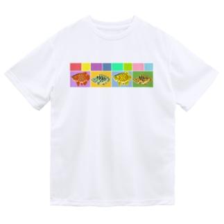 古代魚みに Dry T-shirts