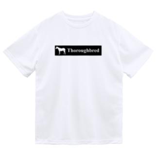 文字ネタ 515 サラブレッドステッカー 黒 Dry T-shirts