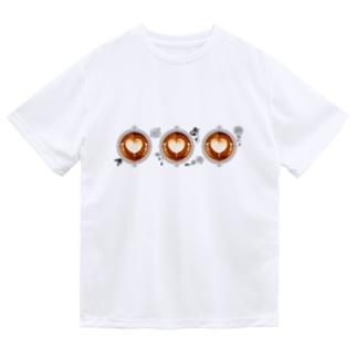 【Lady's sweet coffee】ラテアート メッセージハート / With accessories ~2杯目~ Dry T-Shirt