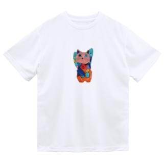 招き猫 Dry T-Shirt