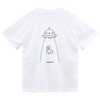 UFOにつれてかれるうさぎ ドライTシャツ