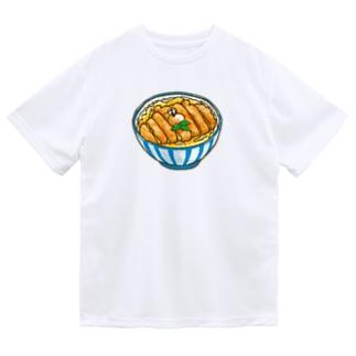 ぶちゃくま。カツ丼 Dry T-shirts