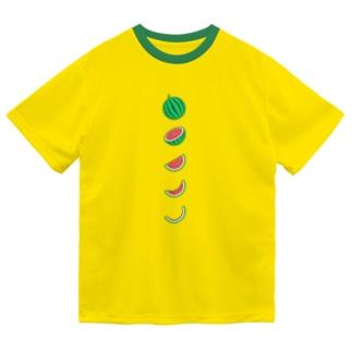 🍉スイカの満ち欠け(縦) Dry T-Shirt