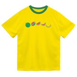 🍉スイカの満ち欠け(横) Dry T-Shirt