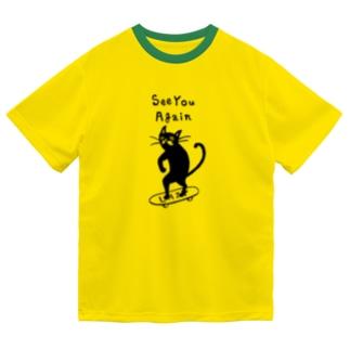 Lazy cat Black Dry T-shirts