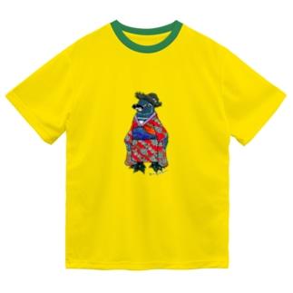 着物ぺんぎん―ガラパゴスと李― Dry T-Shirt