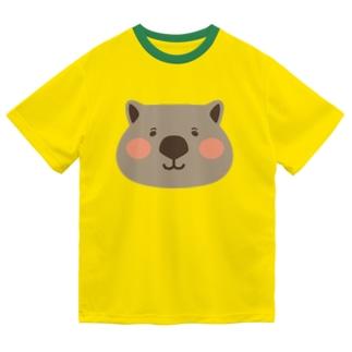 ウォンバットの大きな顔 Dry T-Shirt