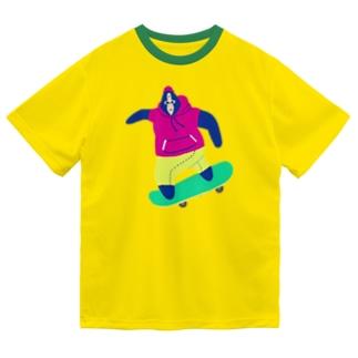 スケボーをするごりちゃん🦍🛹🎶 Dry T-Shirt