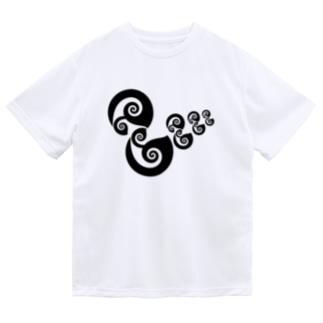 アヒルの親子 Dry T-Shirt