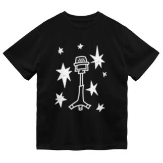 漫才マイク 白 Dry T-Shirt
