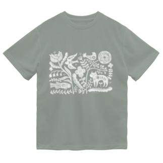 ネコユメ white Dry T-Shirt