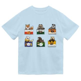 野生動物缶 6点セット ドライTシャツ