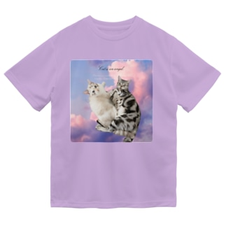 New!!猫は天使 Dry T-Shirt