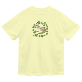 シマリスとクローバー Dry T-shirts
