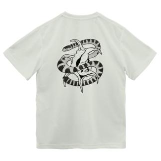 クロボシウミヘビとスイジガイ Dry T-Shirt
