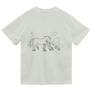 マツザキユキのあの馬 Dry T-Shirt