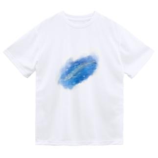 いきものイラスト(シロナガスクジラ) Dry T-shirts