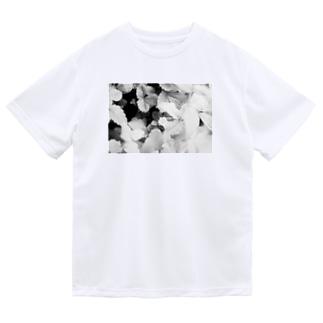 モノクロフラワー(野いちご) Dry T-Shirt