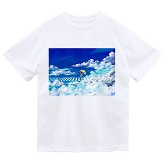 [ 青は進め ] ドライTシャツ