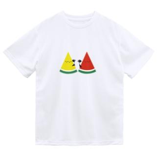 スイカとペンギン Dry T-Shirt