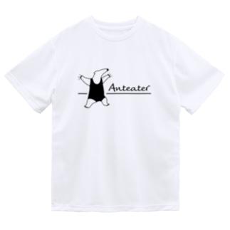 威嚇するミナミコアリクイ ドライTシャツ