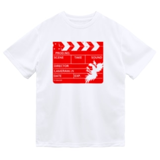 カチンコ(赤インク) Dry T-Shirt