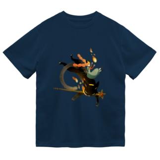 炎の魔法 Dry T-shirts