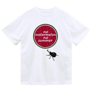 スイカとかぶと虫 Dry T-Shirt