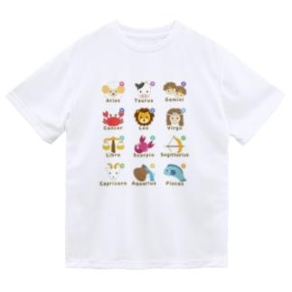 英語で星座 ドライTシャツ