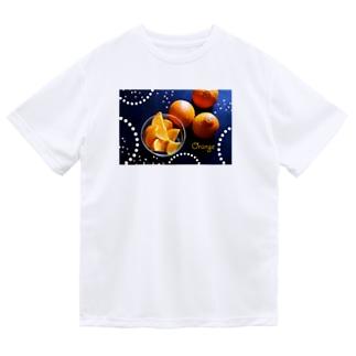 オレンジ ドライTシャツ
