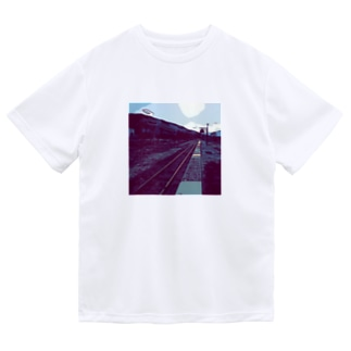 線路は続くよどこまでも Dry T-Shirt