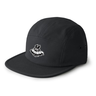 ナツムラのうみゅーのロゴマーク(黒) 5 panel caps