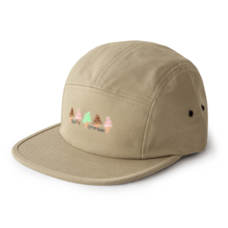 blueHawaiiのsoftcream カラフル 5 panel caps