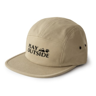 PLAY OUTSIDE ジェットキャップ(カーキ) 5 panel caps