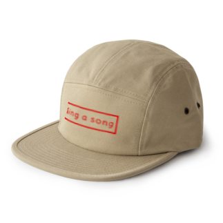 Sorapolice_pinopoliceのsing a song シンプル 5 panel caps