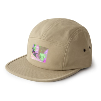 What is cute? メロンクリーム猫さん 5 panel caps