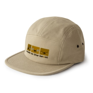 simple is the beast(横セピア) 5 panel caps