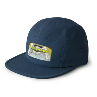 STAY HOME 5 panel caps
