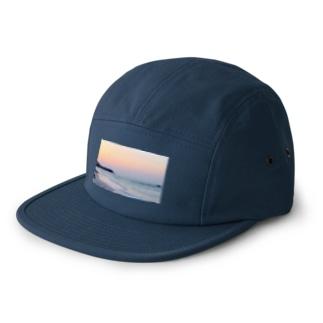 Sunset on the beach 5 panel caps