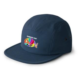 RAINBOW FISH  5 panel caps