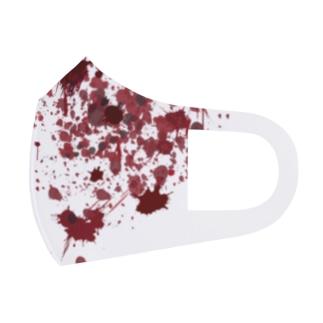 赤い血 Full Graphic Mask
